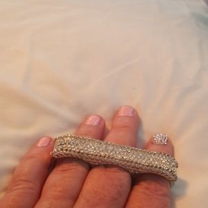 3 finger rhinestone bar ring 8